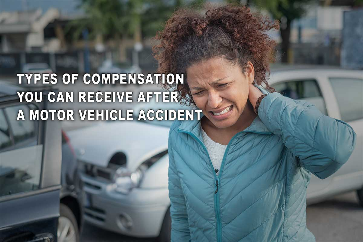 Woman injured in a car accident