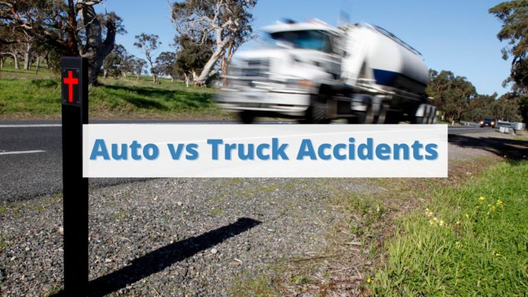 Auto vs. Truck Accident Personal Injury Cases