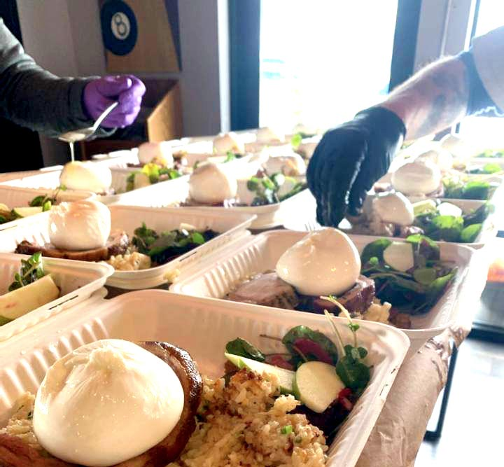 serving meals at Family Bowl in Steamboat Springs, CO