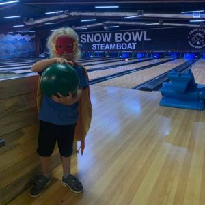 bowling in a costume