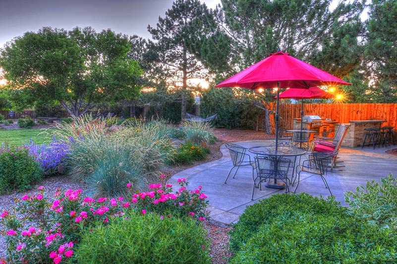 outdoor patio for summer BBQ