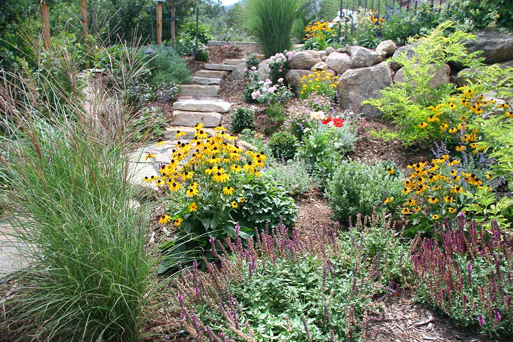 These colorful plantings are well suited to the Colorado Springs and Pikes Peak region, requiring little water and care.