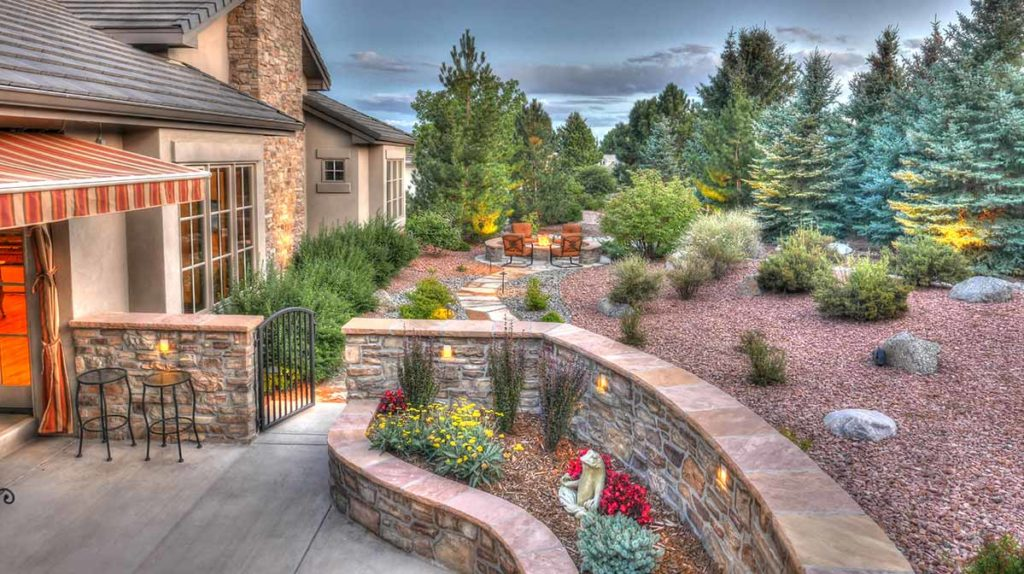 A vibrant backyard without using any turf or sod.