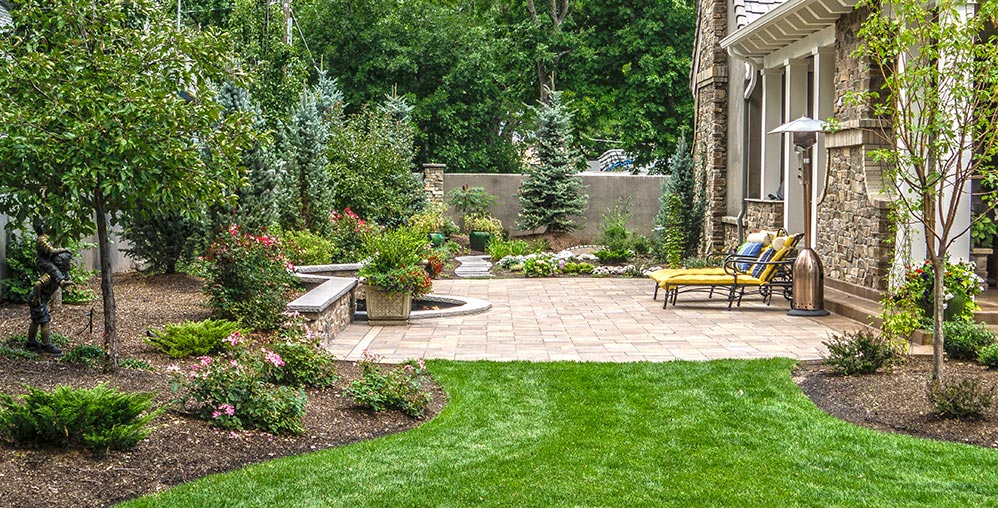 This paver walkway completes the picturesque entry to this Black Forest residence.