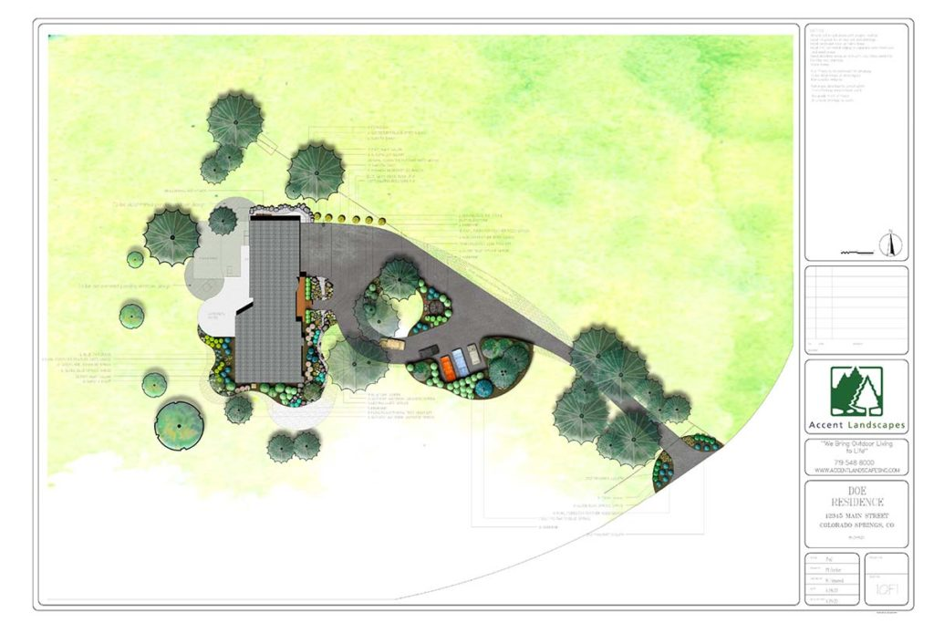 Landscape design plan with the help of an app.