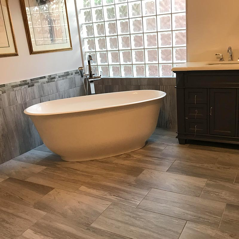free standing tub after remodel