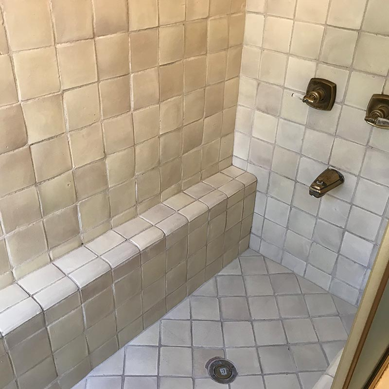 Photo of tub before a conversion to shower