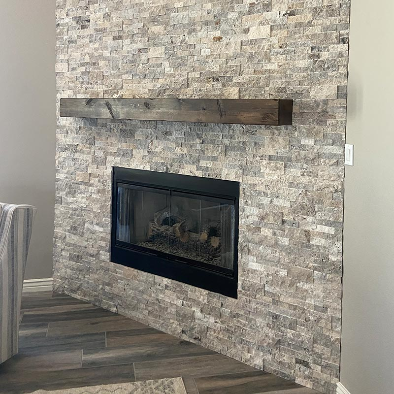 after photo of fireplace remodel