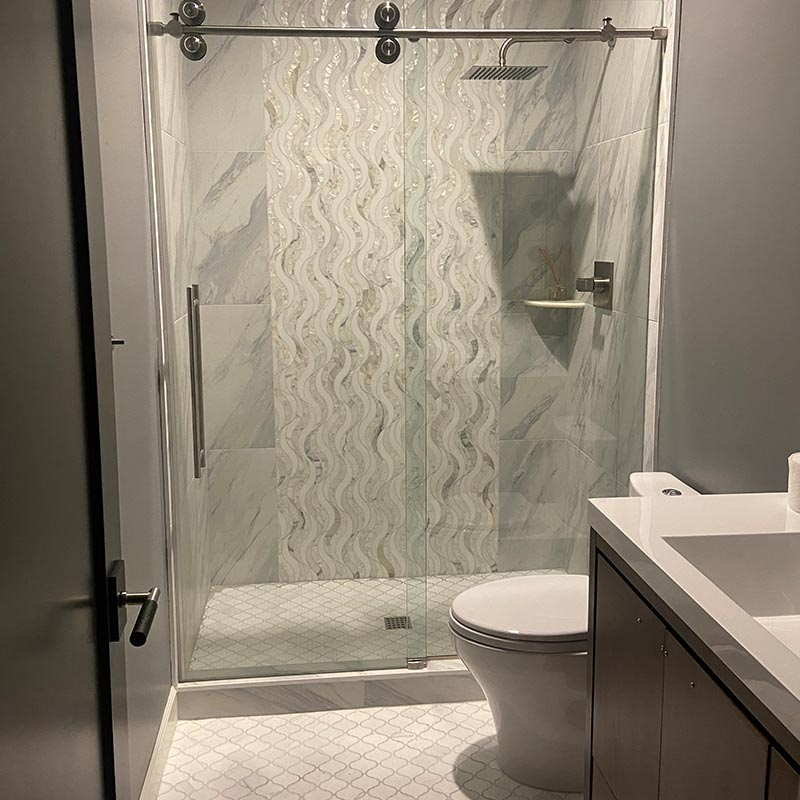 after photo of guest shower